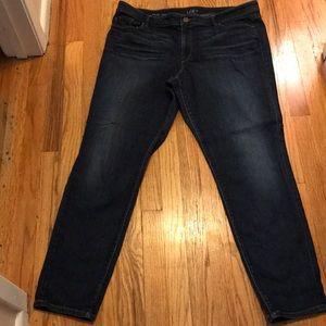 Loft Cuvy skinny jeans size 18